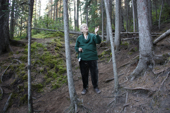 Poetess in the mountain trees  Banff National Park Canada - photo credit SOnny Alfredo Galea