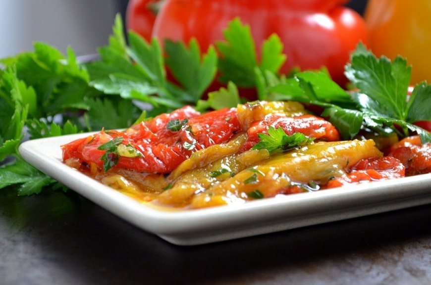 bell peppers marinated roasted red bell peppers recipe key ingredient ...